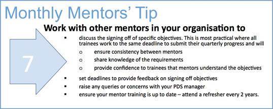 Mentors tip 8